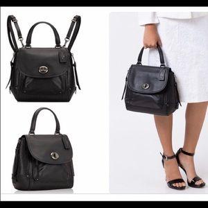 COACH Faye Backpack F30525 Convertible Bag Black